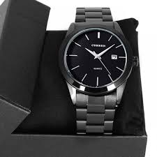 cr03 curren men s black stainless steel watch cr03 classic simple curren black stainless steel luxury date clock mens wrist watch