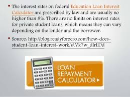 student loan caluclator education loan interest calculator how does student loan interest w