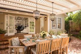 los angeles homely ideas outdoor hanging patio traditional with cushions lighting and a covered