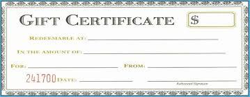 Google Docs Gift Certificate Template 8166