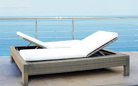 image of wicker double chaise lounge outdoor furniture