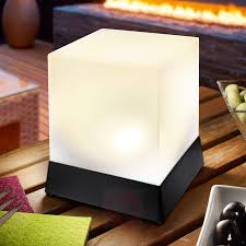 Kubusvormig Led Solar Tafellamp Cube