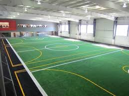 Indoor artificial turf soccer field at the Blue Springs Fieldhouse