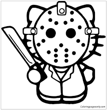 Patrick's day hello kitty picture created by isiswings30 using the free blingee photo editor for animation. Hello Kitty Jason Friday 13th Coloring Pages Cartoons Coloring Pages Free Printable Coloring Pages Online