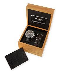 Mens Designer Watch Gift Set Shinola Mens Runwell Watch Wrist Strap Card Case Gift Set