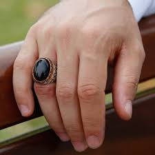 Man Finger Ring Design In Silver Onyx Stone Special Design 925 Sterling Silver Mens Ring