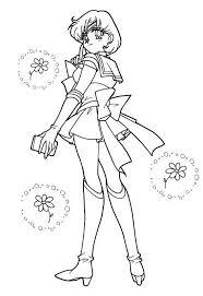 Amy Personaggio Sailor Moon Da Stampare E Colorare Per Bambine E