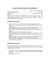 Yearly Contract Templates Lawn Maintenance Contract Images Lawn Maintenance Contract 5