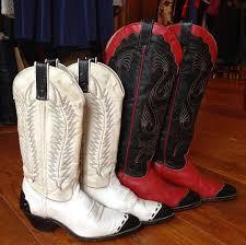 leather cowboy boots vintage