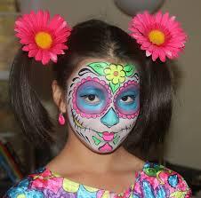 face painted day of dead sugar skull mask tutorial