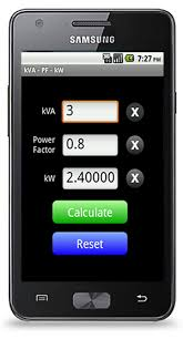 Generator Kva To Amps Chart Kva Calculator App For Android Electrical Apps