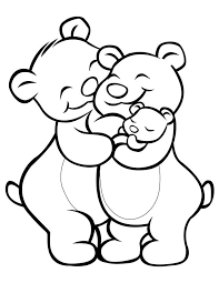 Small Picture Cartoon coloring pages Bear family Free printable Bears and