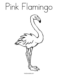 flamingo coloring pictures. Fine Pictures Pink Flamingo Coloring Page And Pictures A
