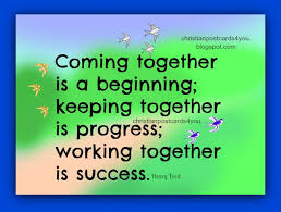 Success Christian Quotes Best of Motivational Phrase Working Together Is Success Christian Cards
