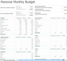 Personal Monthly Budget Excel Family Budget Planner Personal Budget ...