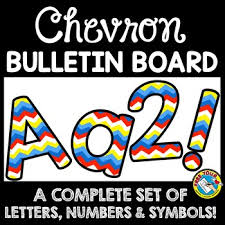 Printable Chevron Letters Rainbow Chevron Classroom Decor Chevron Bulletin Board Letters Printable