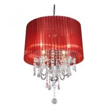 beaumont 4 lamp red chandelier