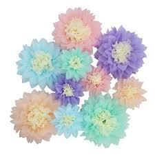 Tissue Paper Flower Wall Art Jual Mybbshower Pastel Tissue Paper Flower Baby Shower Centerpiece