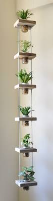 mini indoor garden ideas for small spaces vertical hanging herbs