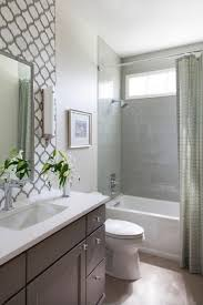 guest bathroom tile ideas. Exellent Ideas This Small Guest Bathroom Packs In A Lot Of Style With Fully Tiled Tub Shower Combo And Decorative Backsplash That Extends To The Ceiling For  Added  With Guest Bathroom Tile Ideas