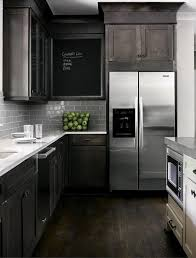 Exellent Dark Kitchen Cabinets Colors Smoke Grey Glass Subway Potential Throughout Decorating Ideas