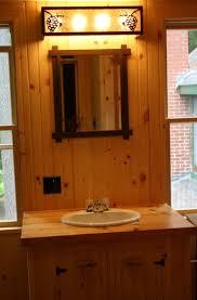 Log Cabin Bathroom Decor Rustic Outdoor Light Fixtures Oval Freestanding Bathtubs Bathroom