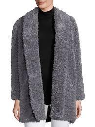 joie kavasia faux fur coat dove grey women s coats shearling joie coats fur