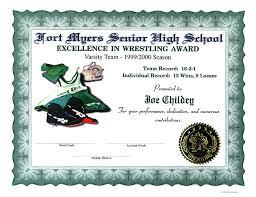 High School Certificates