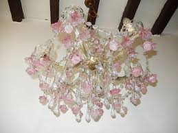 murano chandelier pink french fuchsia murano flowers and chandelier at 1stdibs ideas 35