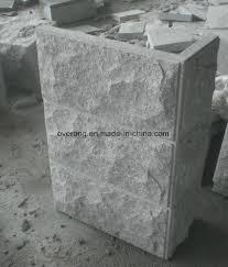 outdoor wall tile natural grey concrete mushroom stone tile for wall cladding pillar