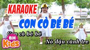 KARAOKE - CON CÒ BÉ BÉ - Mẹ Yêu Không Nào - YouTube