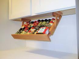 Under Cabinet Shelving Kitchen Creative Kitchen Storage Idea Under Cabinet Spice Rack