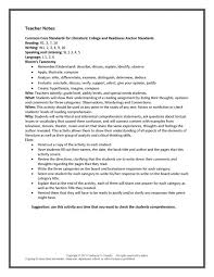 teach it write think and link reading comprehension lesson plans ...