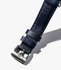 leather watch bands gear patrol everest blue slide