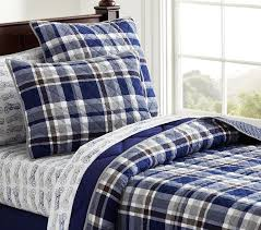 interior charlie plaid quilt pottery barn kids petite boys bedding casual 11 boys plaid