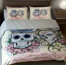 Skull Bedroom Decor Duvet Cover My Sugar Skulls