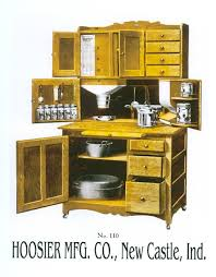 This is a true Hoosier cabinet, because it has a flour dispenser ...