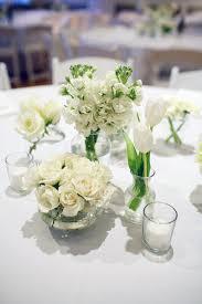 White wedding centerpieces Big Allwhiteweddingcenterpieces United With Love Modern Allwhite Wedding Reception In Frederick Md Jackie
