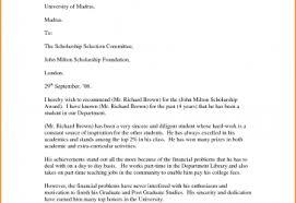 Recommendation Letter For Student Scholarship Pdf Sample Recommendation Letter For Scholarship Format From Professor