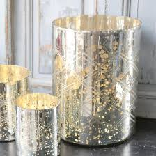 outstanding sliver gold combination mercury glass vase cylinder ordinary shape with no lids perfect for placement