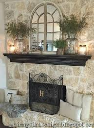 amazing wall decor above fireplace sensational idea over decorating mirror pintere the for bed tv curved