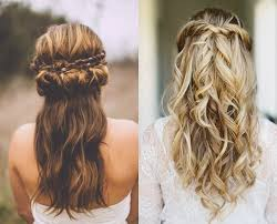 23 marvelous wedding hair half up half down boho wodip com Wedding Hairstyles Up Or Down look at 23 stunning half up half down wedding hairstyles for 2016 in this post! if you are a bride who love romantic look, youd amid inspiration article wedding hair up or down