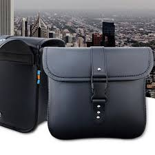 specifications of 1 pair black pu leather motorcycle side saddlebags saddle bag panniers