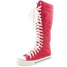 converse knee high boots. dailyshoes women\u0027s tall canvas lace up punk sneaker flat knee high boots pink converse d
