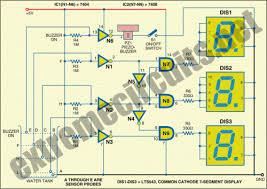 water level indicator using segment display community circuit diagram