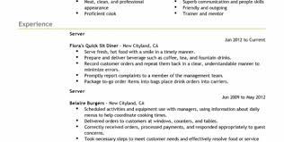 fast food cashier job description for resume fast food cashier job food server job description