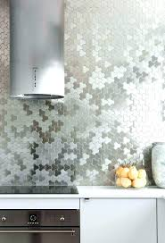 contemporary kitchen metallic tiles modern wall uk full size