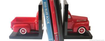 red truck bookend