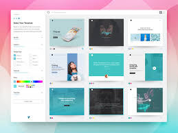 Template Select Screen Website Builder Ui By Jim Basio On