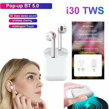 <b>i30 TWS</b> Wireless Bluetooth Headphone <b>Bluetooth 5.0</b> Earbuds ...
